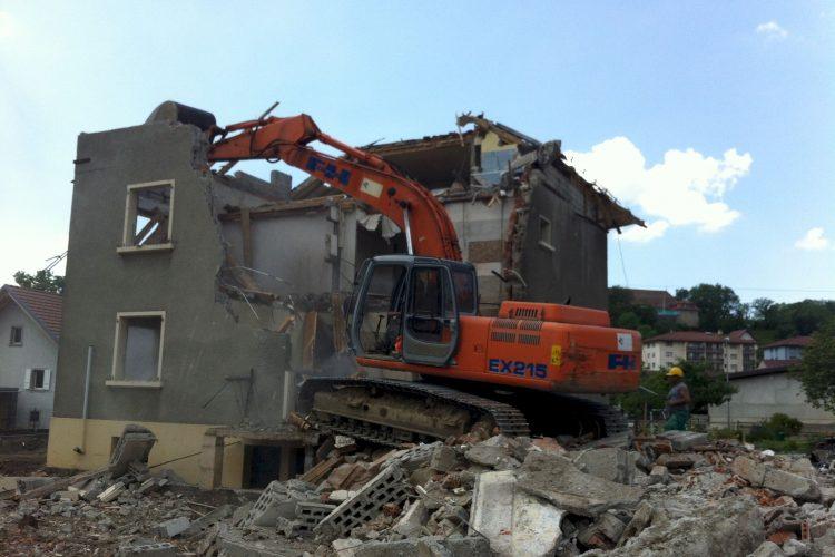 Travail de démolition (Lavaux)